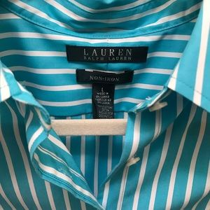 Lauren Ralph Lauren Blue and White Striped Large